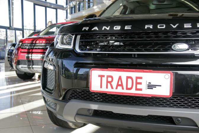 TPH-2 on Range Rover front plate