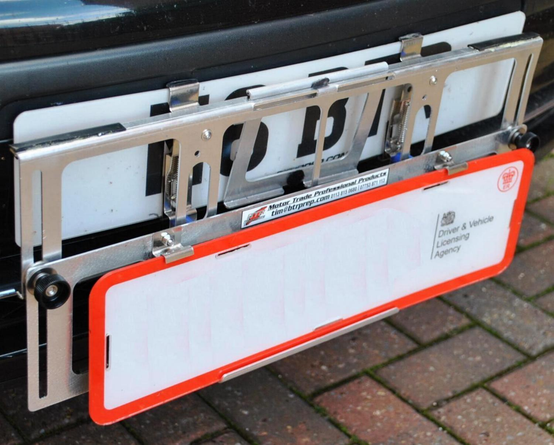 TPH-1 Trade Pro on Mercedes ML - TP set low & TPH-1 Trade Pro - Trade Plate Holder set - Easy Fit Trade Plates ...