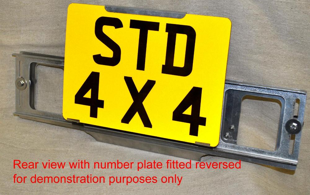 TPH-1 on a 205mm high number plate rear view & TPH-1 Trade Pro - Trade Plate Holder set - Easy Fit Trade Plates ...