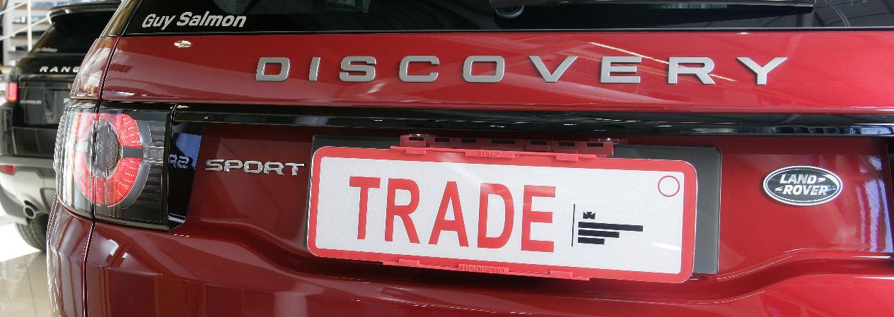 Trade Plate holder TPH-2 fitted to Discovery rear